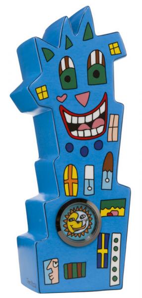 Watch tower - Porzellanfigur mit Uhr