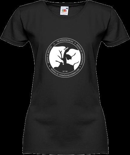 "Fan-T-Shirt ""Bulle und Bär""- Damen schwarz"