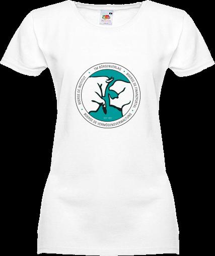 """Fan-T-Shirt """"Bulle und Bär""""- Damen weiß"""